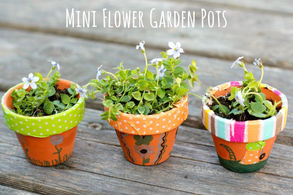 Miniature garden pots