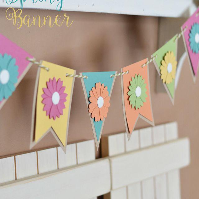 simple spring DIY paper banner