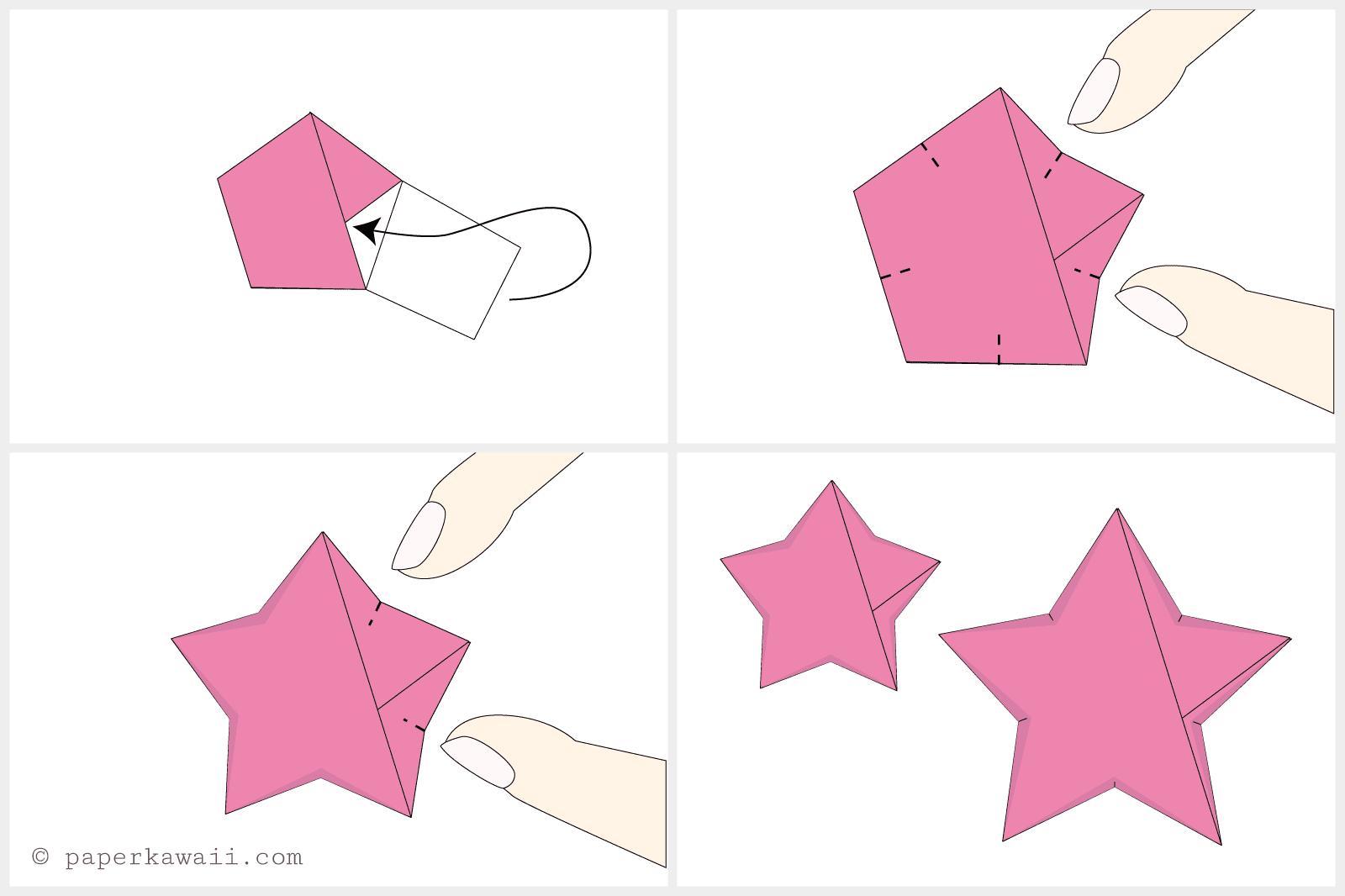 How to make 3D origami paper stars - Akamatra | 1066x1600