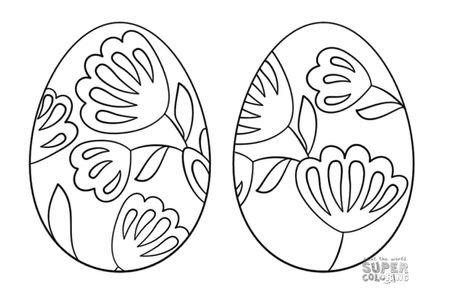 Free Easter Eggs To Color At Super Coloring A Pysanka Ukrainian Egg