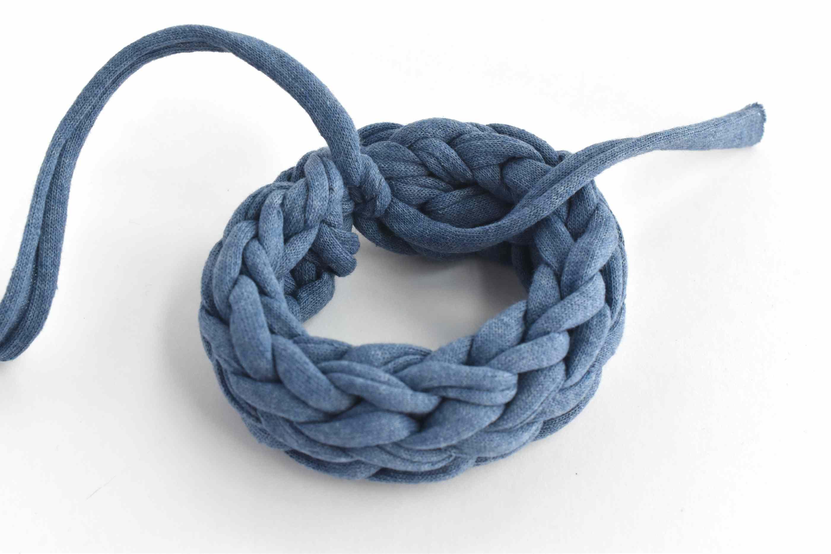 Making a Finger Knitting Bracelet