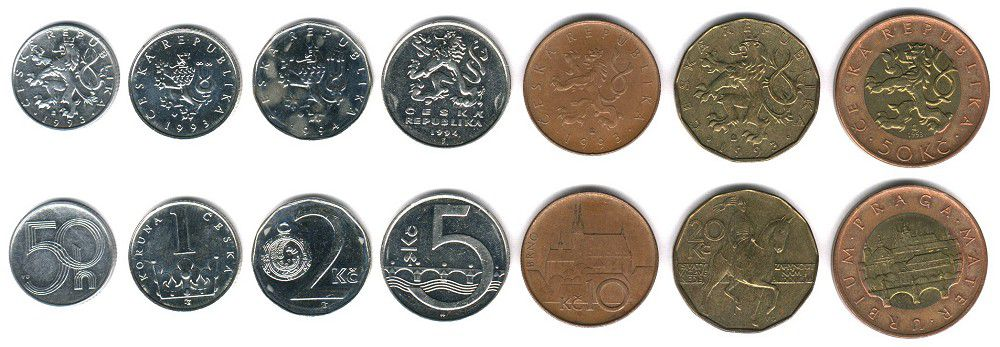 These coins are currently circulating in Czech Republic as money.