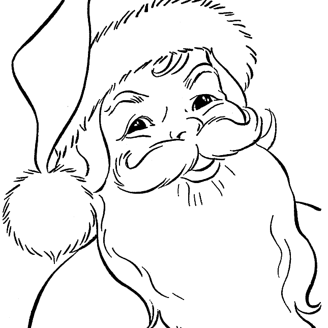 Candid image within santa claus printable coloring pages