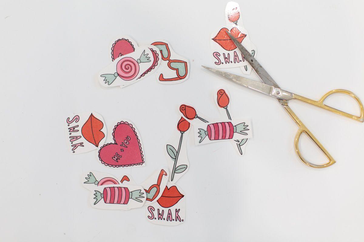 Free printable Valentine's Day tattoos