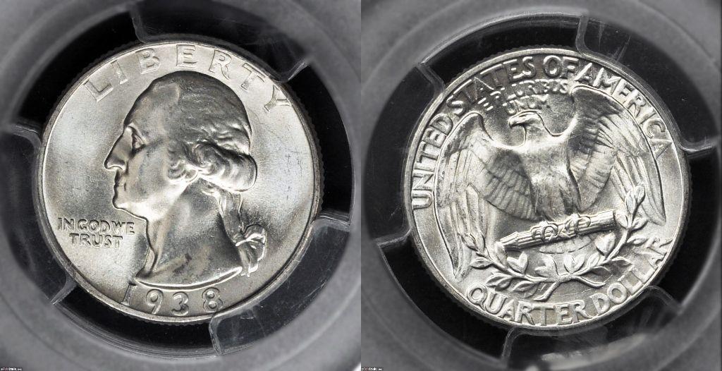 Washington Quarter Graded Mint State-67 (MS67)