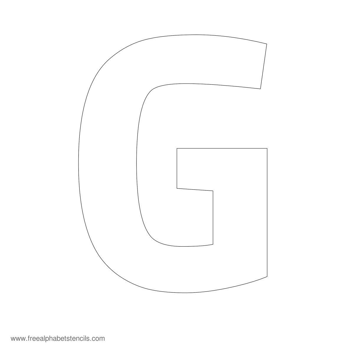A stencil of the letter