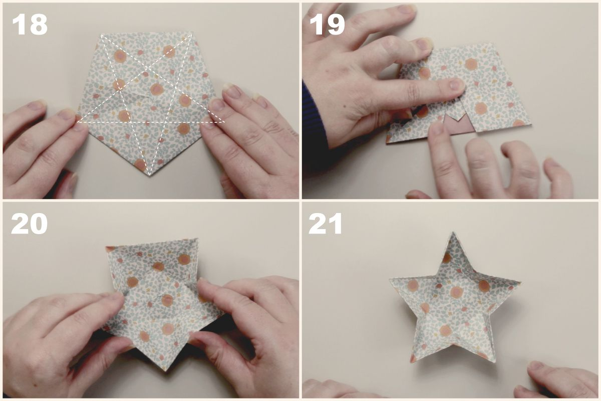 Origami Star Dish Instructions Christmas Ornaments On A Diagram