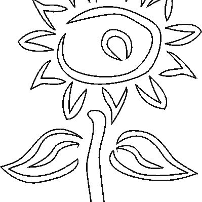 Free sunflower stencil