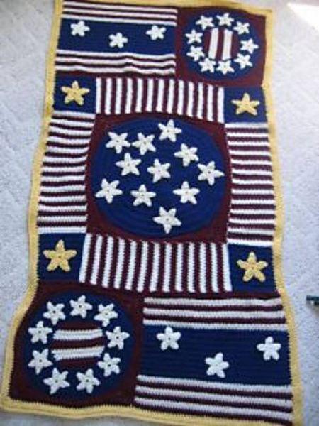 Crochet American Flag Free Patterns