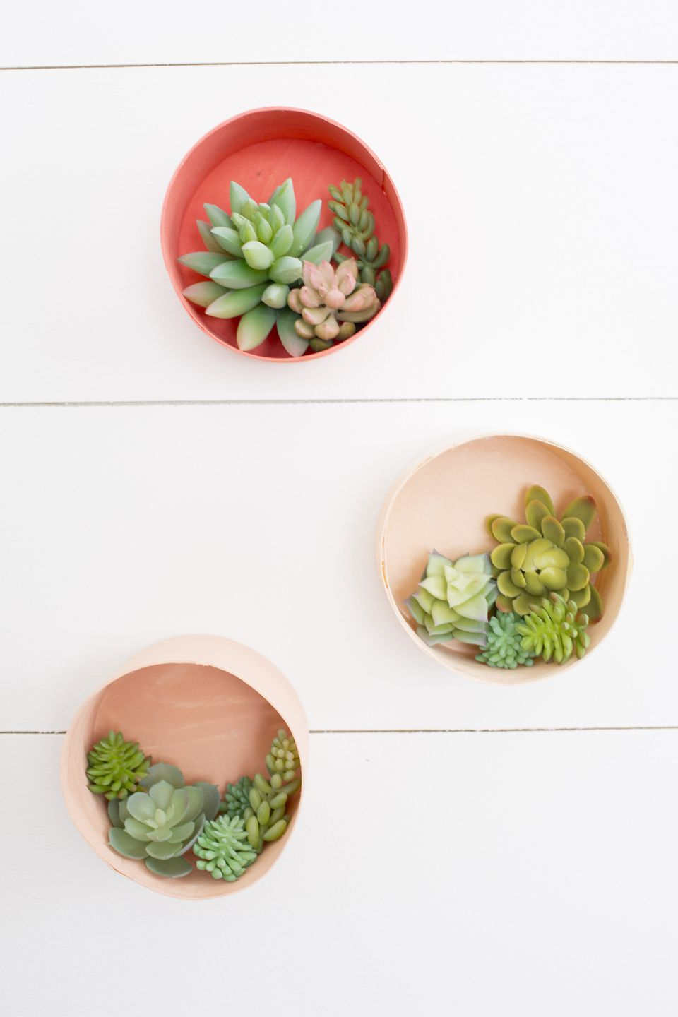 How to Make Faux Succulent Hangers