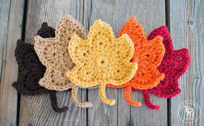 18 Free Crochet Leaf Patterns For Every Season