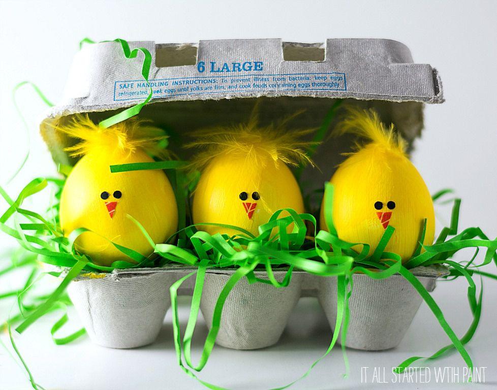 DIY Chick Easter Eggs