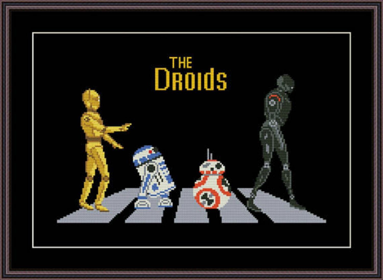 The Droids cross stitch