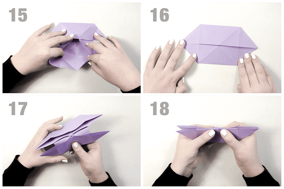 Making more flaps for an origami butterfly