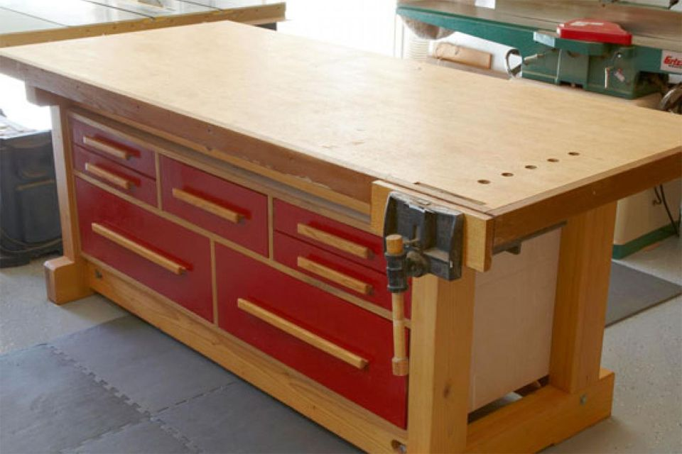 17 free workbench plans and diy designs - How To Build A Garage Workbench