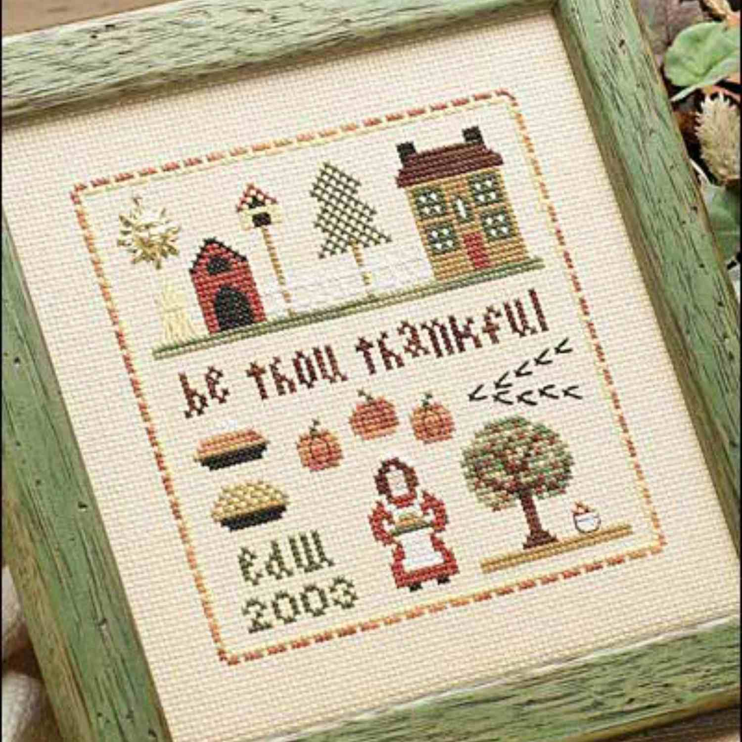 thanksgiving cross stitch pattern