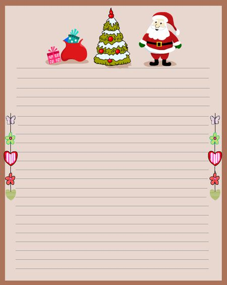 76 free christmas stationery and letterheads christmas stationery with santa and a tree spiritdancerdesigns Images
