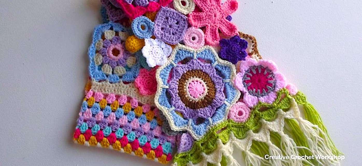 Scrap Yarn Crochet Scarf