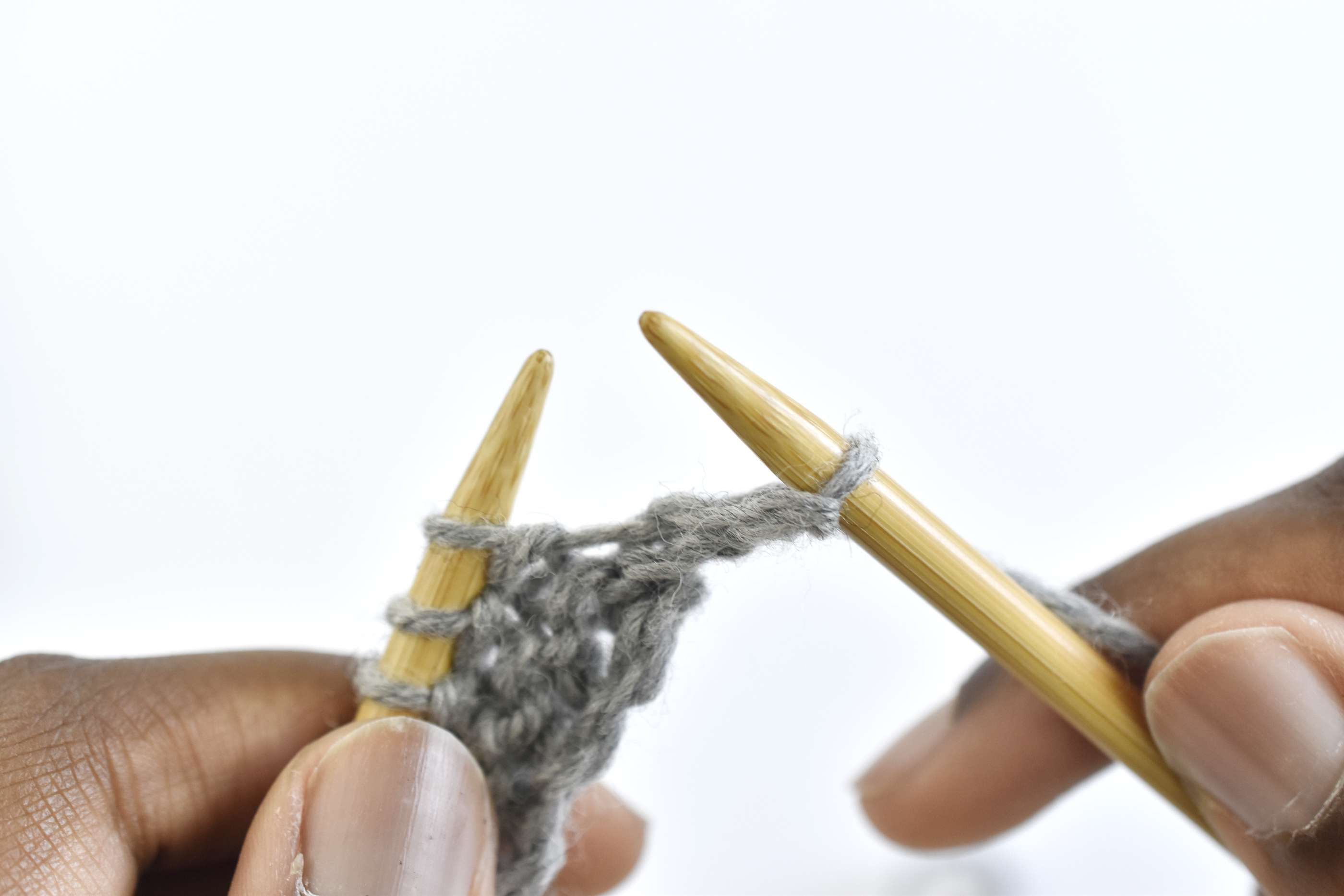 Transfer the Stitch to the Right Needle