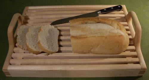 Wooden Bread Tray