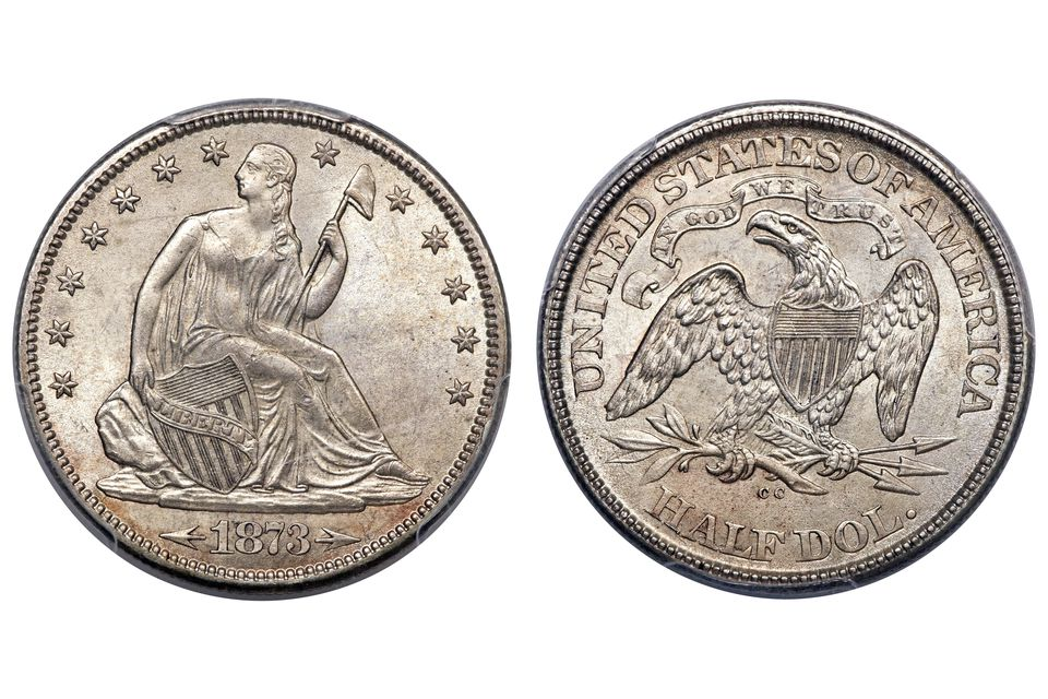 An Uncirculated Liberty Seated Half Dollar
