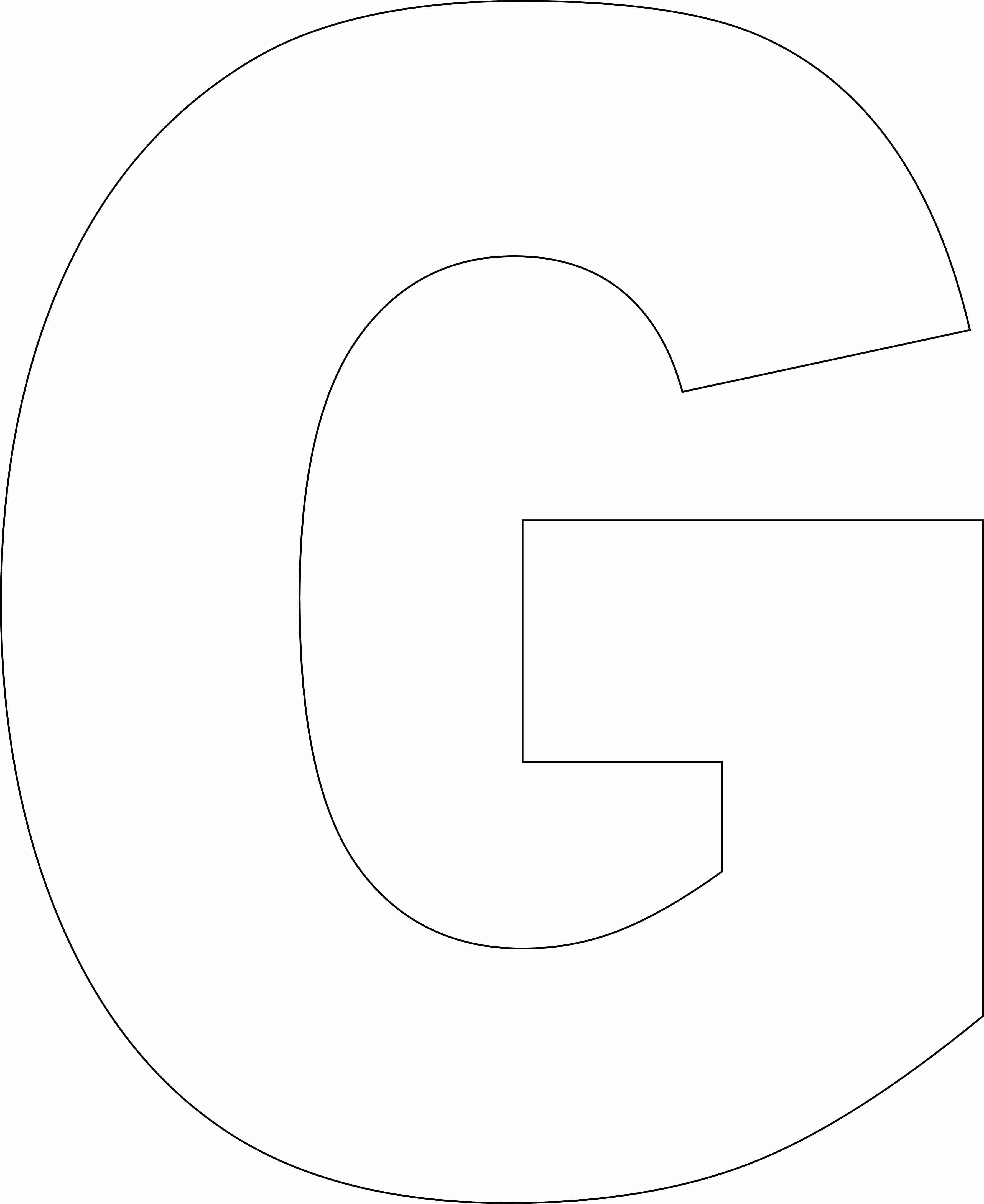 lowercase letter g template  Free Printable Alphabet Template Upper Case
