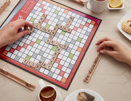 Playing scrabble board game