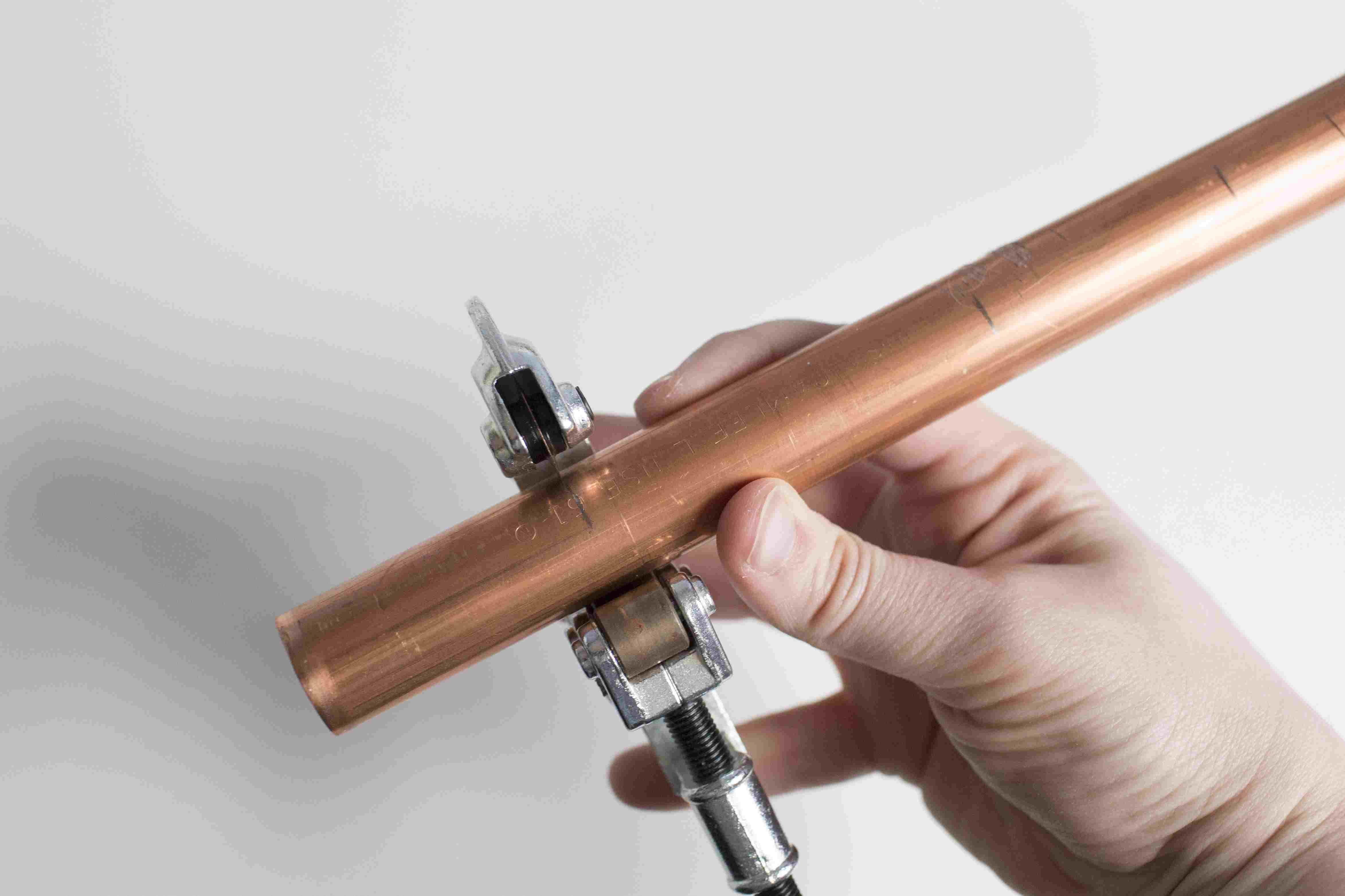 Cutting a copper pipe
