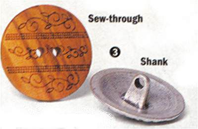 Shank Button and Flat Button