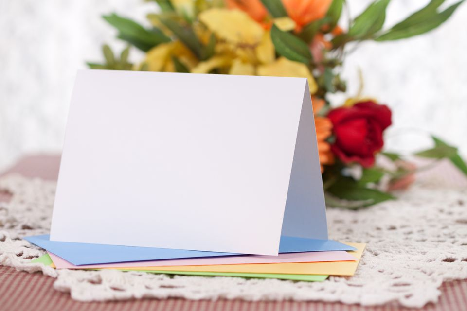 Blank Note or Greeting Card