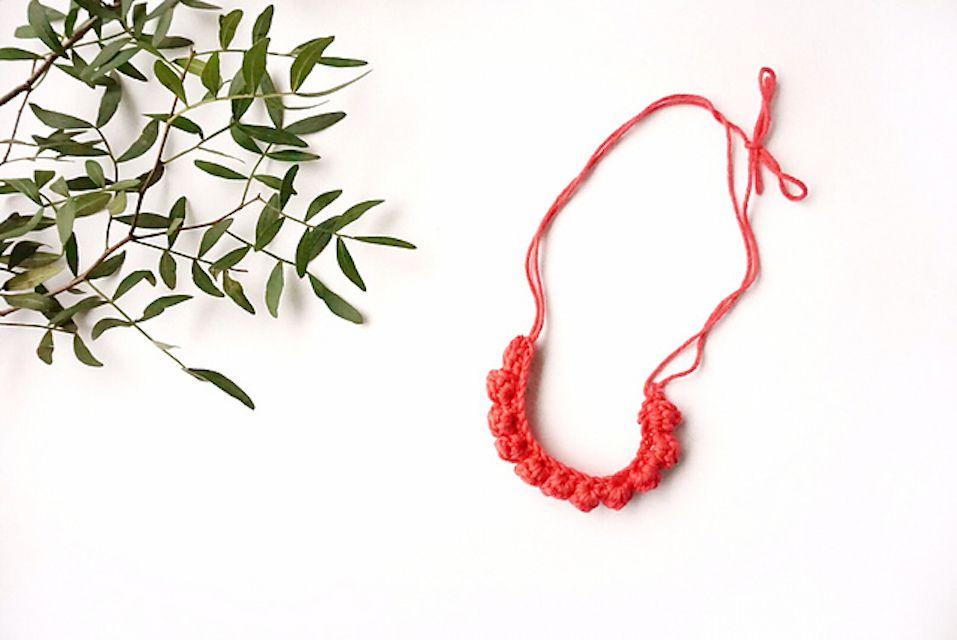 Crochet Bobble Stitch Necklace