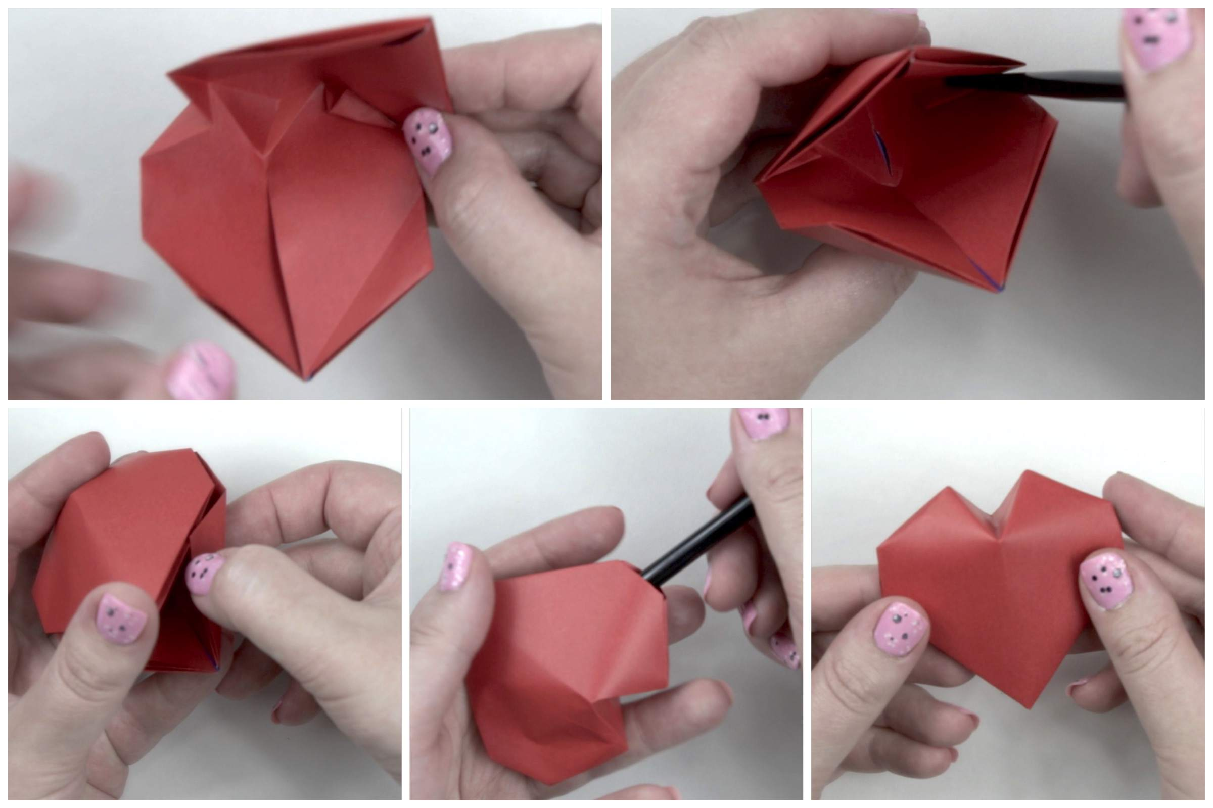 Origami Puffy Heart Instructions 3d Diagram Free Download