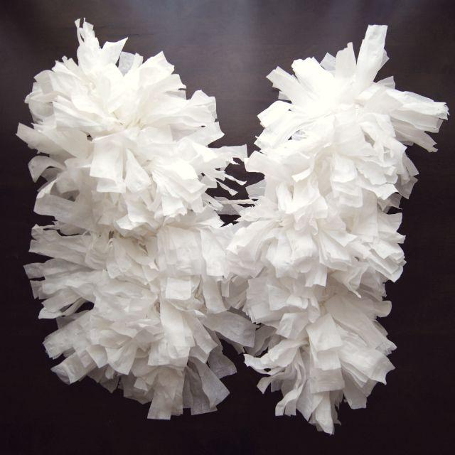 tissue paper angel wings