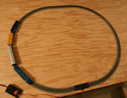A simple 4'x8' platform will provide ample room for a model railroad in many scales.