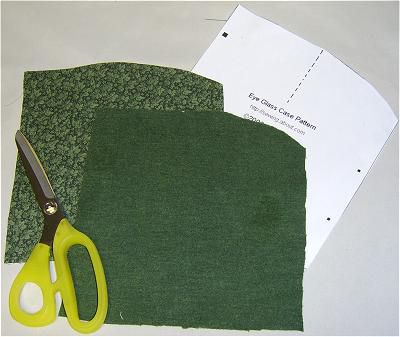 outer fabric and lining for DIY eyeglass case