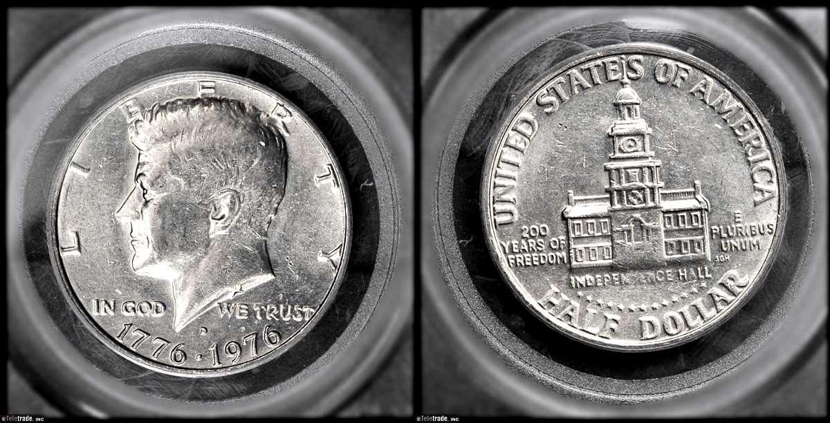 Kennedy Half Dollar Graded Extra Fine-45 (EF45/XF45)