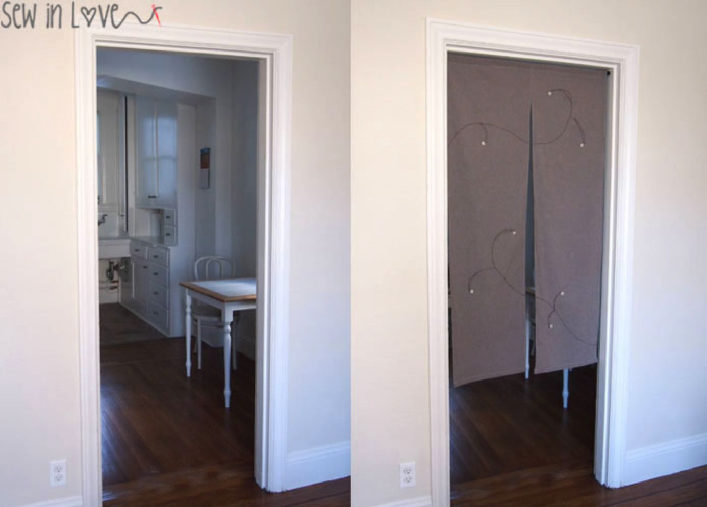 How to Sew Japanese Room Divider Curtains