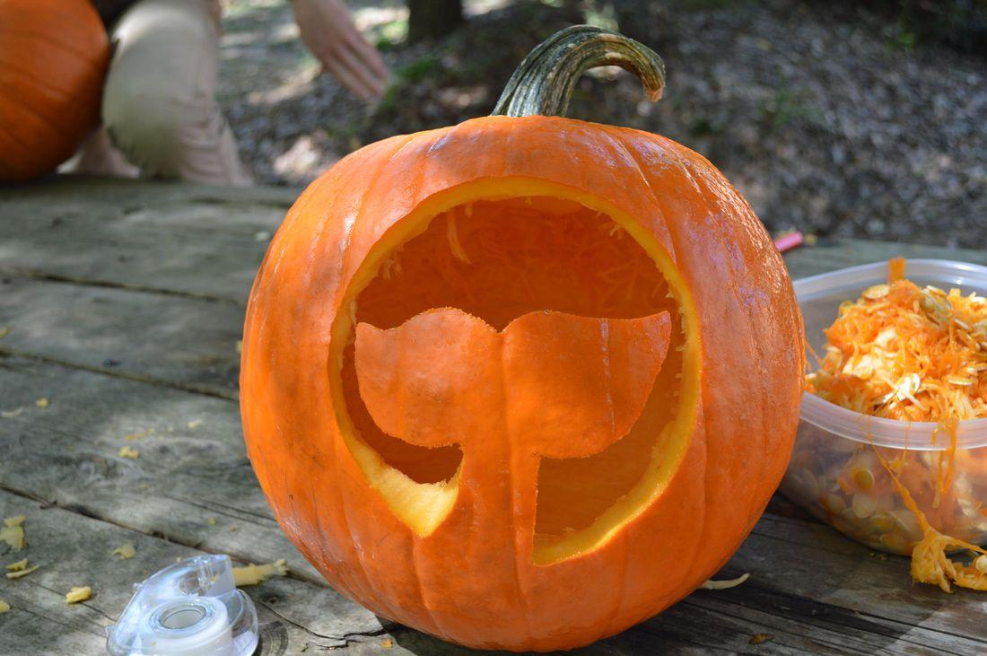 A whale pumpkin