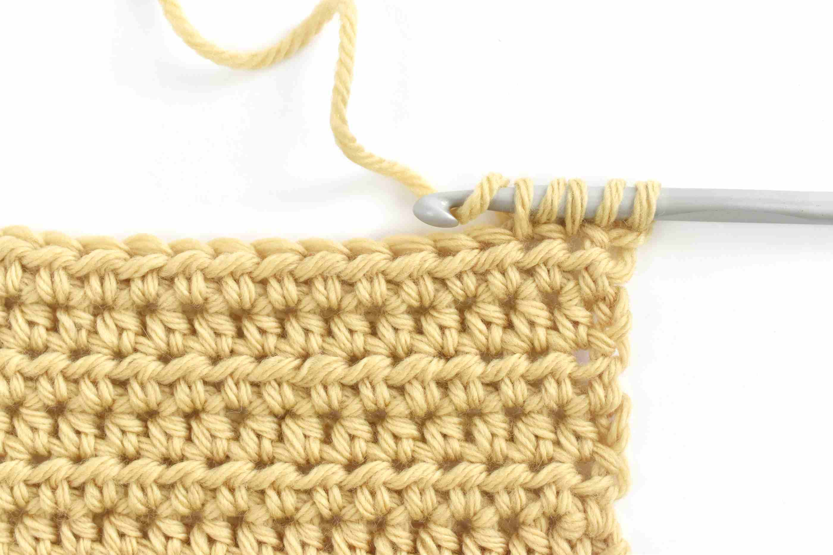 4d6f28903f2 How to Work Half Double Crochet Stitch (HDC)