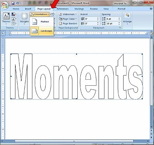 How To Create Printable Block Lettering In Microsoft Word