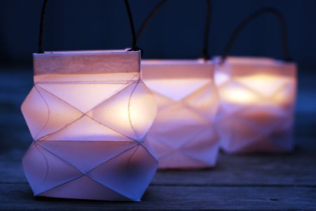 how to make a pretty folded square paper lantern
