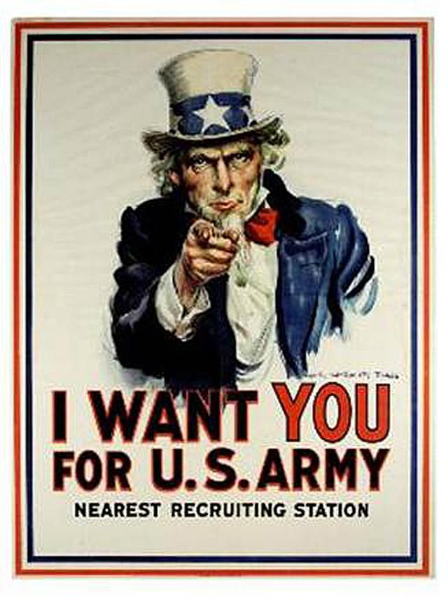 "Original Uncle Sam ""I Want You"" Poster from World War I"