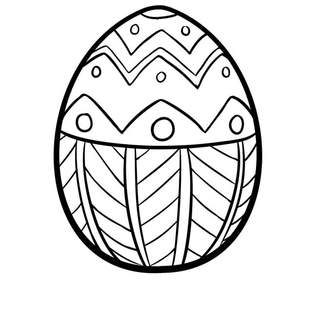 9 Places For Free Printable Easter Egg Coloring Pages