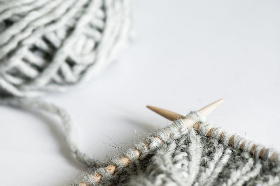 Knitting and wool ball