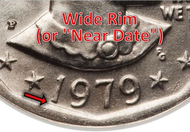 1979-P Susan B. Anthony Wide Rim (Near Date) Variety