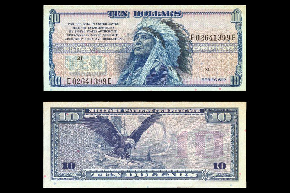 Series 962 ten-dollar Military Payment Certificate