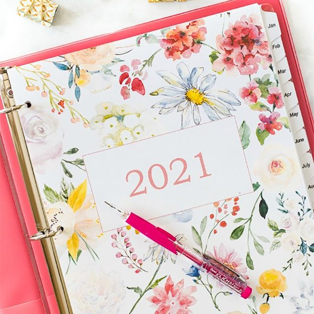 A floral 2021 cover page
