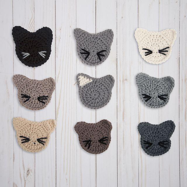 Crochet Cat Coaster Free Pattern