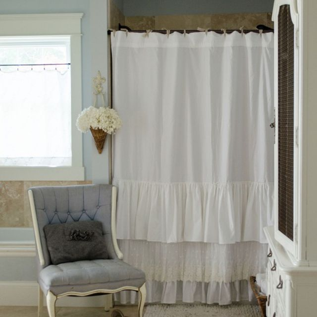 lace diy shower curtain