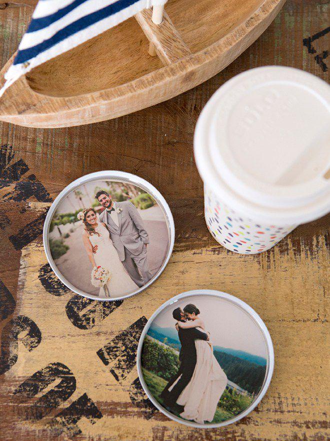 photo Mason Jar lid coasters